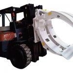 Accessori per carrelli elevatori Pinze per rotolo di carta a braccio singolo a 360 giri