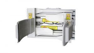 Attacco Forklfit Morsetto per tamburo per carrello elevatore in acciaio bianco da 55 galloni