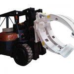 Pinza per rotolo di carta rotante con attacco per carrello elevatore classe 2
