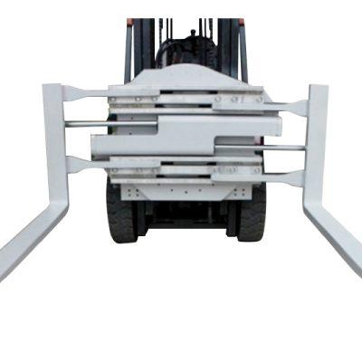 Morsetto a forcella rotante con attacco per carrello elevatore classe 2 con lunghezza di 1220 mm
