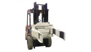 Morsetto a forcella rotante con attacco a carrello elevatore idraulico efficiente (forcella a 2 coppie)