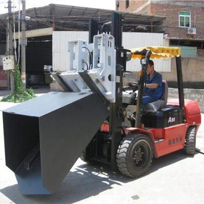 Forcella e secchio incernierati della benna del carrello elevatore diesel Hyundai da 3 tonnellate