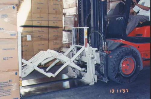 Forklift Push Pull Attachment Use in Appliance Industry